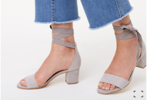 LOFT ankle wrap sandals