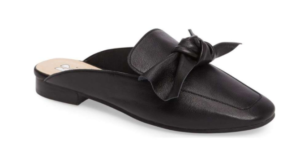 Nordstrom semi annual sale black leather mule