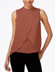 Mock silk turtle neck