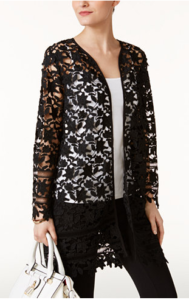 Lace summer coat